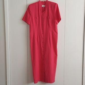 Vintage Kathie Lee Collection Pink MaxiDress Sz 12